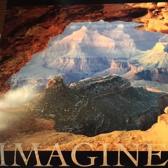 """Arches National Monument with caption """"Imagine"""""""