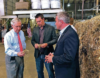 Senate Majority Leader Mitch McConnell, left, inspects a piece of hemp in July that was taken from a bale of hemp at a processing plant in Louisville, Ky. McConnell had guaranteed that his proposal to make hemp a legal agricultural commodity, removing it from the federal list of controlled substances, would be part of the final farm bill. Associated Press file photo