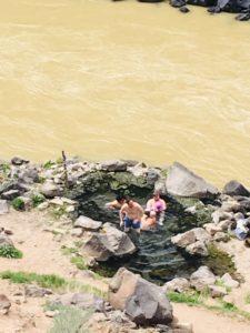 Manby hot springs along the Rio Grande River